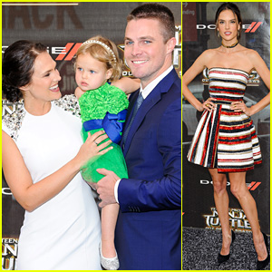 Stephen Amell Brings His Family to 'TMNT' Premiere!