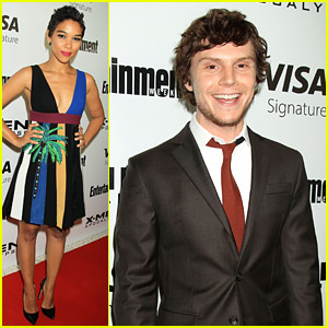Alexandra Shipp & Evan Peters Attend 'X-Men' Screening in NYC!
