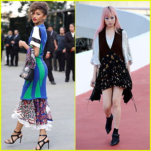Zendaya Goes Tropical For the LV Cruise Collection Show in Rio