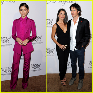 Zendaya Joins Nikki Reed & Ian Somerhalder for Humane Society Gala