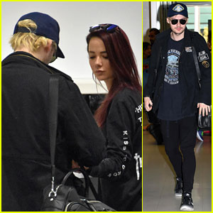 5SOS' Michael Clifford & Girlfriend Crystal Leigh Fly Out of Sydney Together