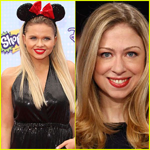 Alli Simpson Welcomes Chelsea Clinton To Her Radio Disney Show