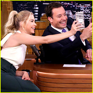 Ashley Benson Plays Around with Snapchat on 'The Tonight Show' (Video)