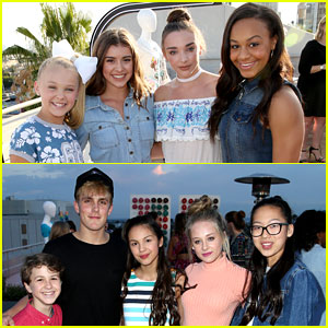 JoJo Siwa Joins 'Bizaardvark' Cast at JJJ's MXYZ Celebration!