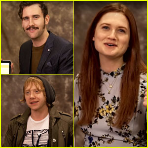 Rupert Grint, Bonnie Wright & Matthew Lewis Get Sorted At Pottermore