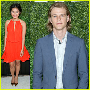 Brenda Song Steps Out For CBS' Summer Soiree With Lucas Till