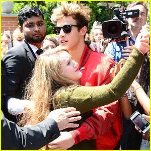 Cameron Dallas Meets Fans Outside Dolce & Gabbana Show in Milan