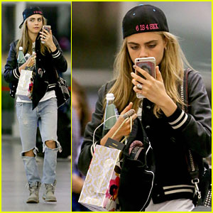 Cara Delevingne Makes 'Confetti Angels' After Wrapping 'Valerian'