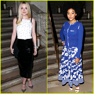 Amandla Stenberg Adds Some Color to Chanel Dinner with Dakota Fanning