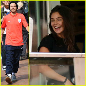 Danielle Campbell Hangs With Louis Tomlinson & Niall Horan After Soccer Training
