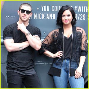 Demi Lovato & Nick Jonas Hand Out Free Treats in Atlanta