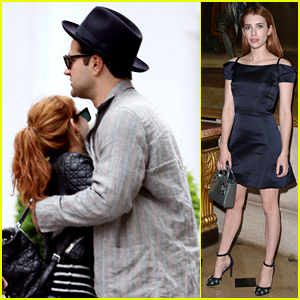 Emma Roberts Attends Dior Cruise Show, Hugs Mystery Guy in London