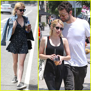 Emma Roberts & Rumored Boyfriend Joke Around in Hollywood!