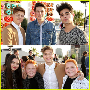 Landry Bender Meets Up with 'Best Friends' Cast at JJJ & Disney's MXYZ Party!