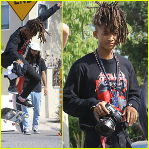 Jaden Smith Shows Off Skateboard Skills