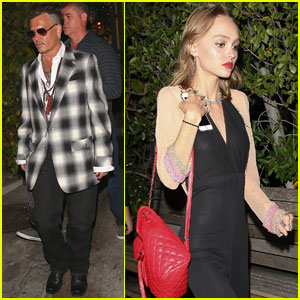 Lily-Rose Depp Grabs Dinner With Dad Johnny Depp