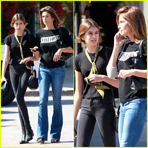 Kaia Gerber & Mom Cindy Crawford Look Just Alike on Outing