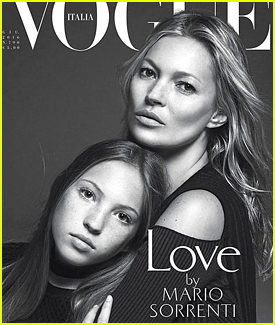 Kate Moss' Daughter Lila Grace Joins Her on 'Vogue Italia' Cover