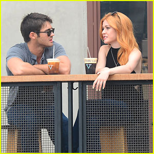 Katherine McNamara Grabs Coffee With Steven R. McQueen After Teen Choice Nomination