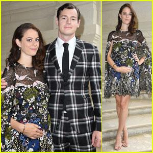 Expecting Parents Kaya Scodelario & Benjamin Walker Hit Up Paris Fashion Week