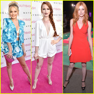 Kelli Berglund & Madelaine Petsch Celebrate Maybelline New York at LA Beauty Bash