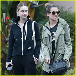 Lea Michele Joins Becca Tobin for Casual Outing