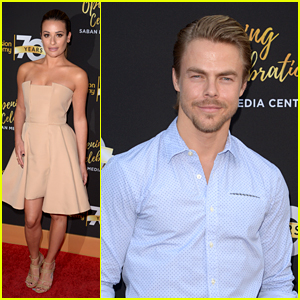 Lea Michele Joins Derek Hough at Television Academy Anniversary