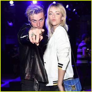 Lucky Blue & Pyper America Sit Front Row at London Fashion Show