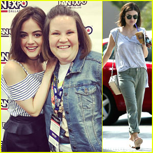 Lucy Hale Meets Chewbacca Mom in Dallas