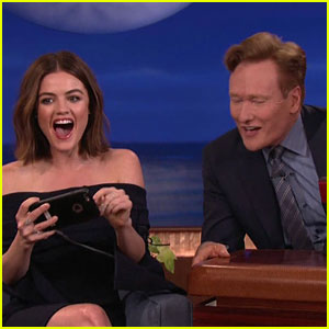 Lucy Hale FaceSwaps With Conan O'Brien - Watch Now!