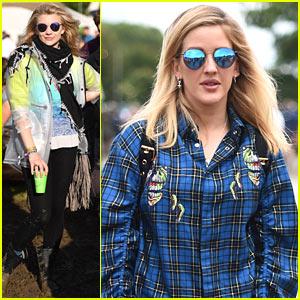 Natalie Dormer & Ellie Goulding Attend Glastonbury Festival 2016