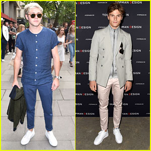 Niall Horan & Oliver Cheshire Hit Up Fashion Shows During London Collections Men 2016
