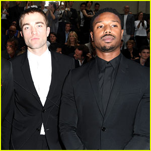Robert Pattinson Attend's Dior Homme's Paris Show with Michael B. Jordan