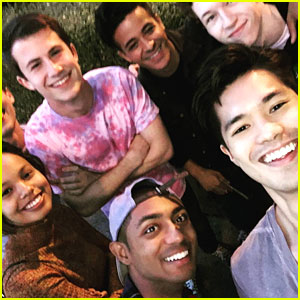 Ross Butler Shares First Cast Pic From '13 Reasons Why'