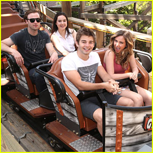 Ryan Newman Rides Ghostrider Rollercoaster with Boyfriend Jack Griffo