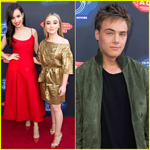 Sofia Carson, Sabrina Carpenter, & Kevin Quinn Premiere 'Adventures in Babysitting'