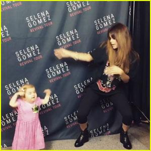 Watch Selena Gomez Dance It Up With Fan Audrey Nethery!