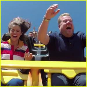Selena Gomez & James Corden Lip Sync on a Roller Coaster for 'Carpool Karaoke'