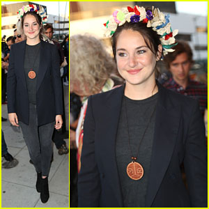 Shailene Woodley Rocks Flower Crown at Climate Change Documentary Event