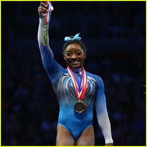 Gymnast Simone Biles Breaks Record at P&G Gymnastics Championships 2016
