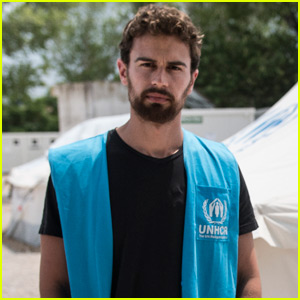 Theo James Meets With Refugee Families in Greece