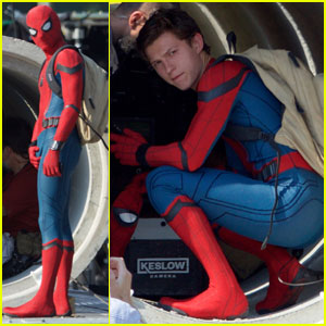 Tom Holland Looks Hot in His Spider-Man Suit - First Look Photos!