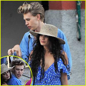 Vanessa Hudgens & Austin Butler Cozy Up on Vacation in Italy