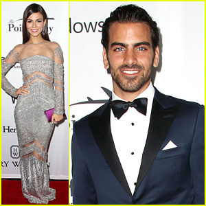 Victoria Justice Shimmers at amfAR Inspiration Gala with Nyle DiMarco!