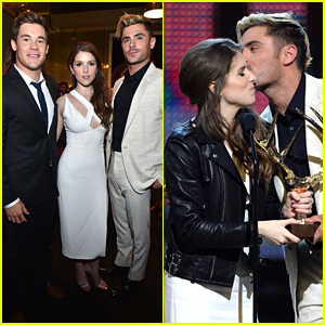 Zac Efron Reunites With Adam DeVine & Anna Kendrick at Guys' Choice Awards 2016