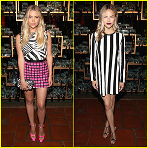 Ashley Benson & Halston Sage Glam Up For Marc Jacobs' Divine Decadence Event
