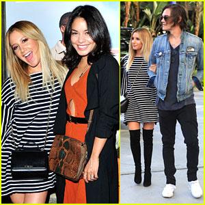 Ashley Tisdale Meets Up with Vanessa Hudgens For Selena Gomez's Concert in LA