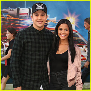Austin Mahone & Katya Henry Make Carpet Debut at 'Ghostbusters' Premiere