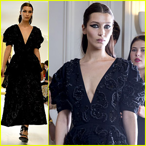 Bella Hadid Wears Couture for Dior's Paris Show!