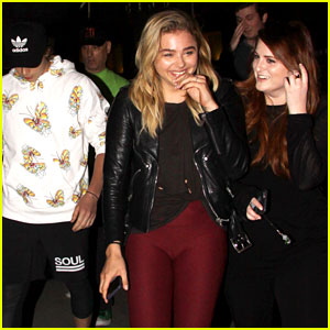 Chloe Moretz & Brooklyn Beckham Watch a Movie with Her BFF Meghan Trainor